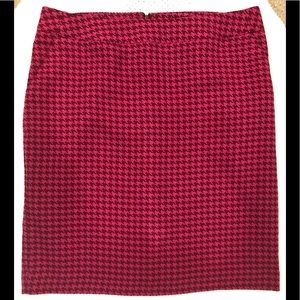 (Merona) Pink Houndstooth Pencil Skirt, NWOT